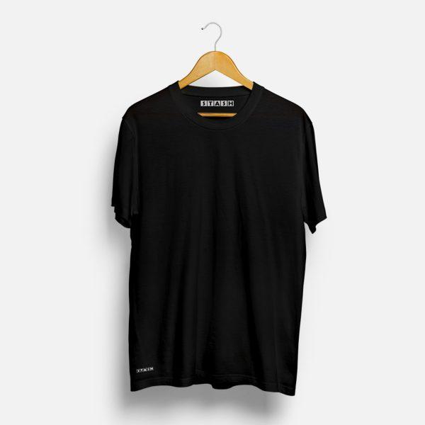 Black Unisex Plain Tshirt