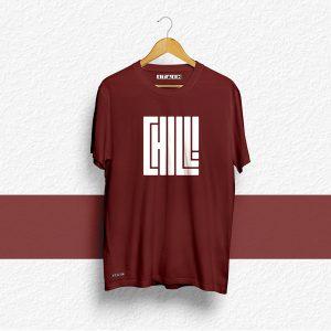 CHILL Maroon Unisex Printed Tshirt