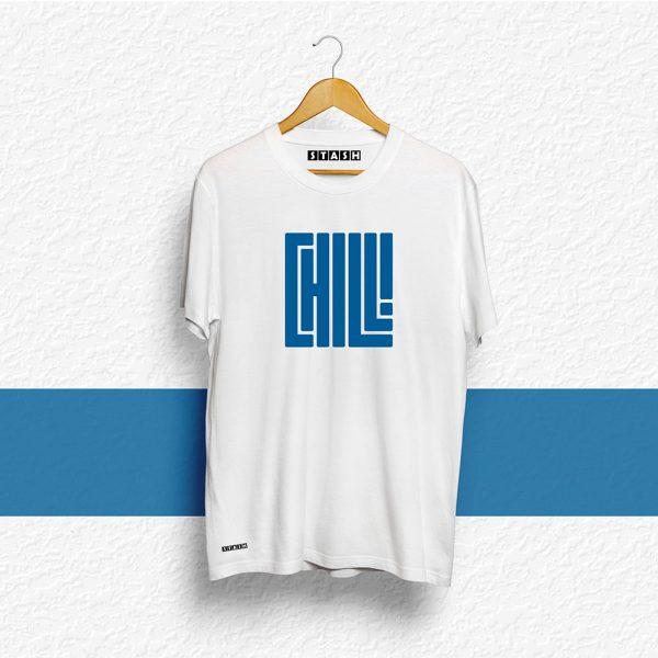 CHILL White Unisex Printed Tshirt