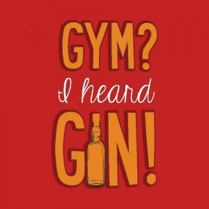 Gym & Gin Half Sleeve T-Shirt