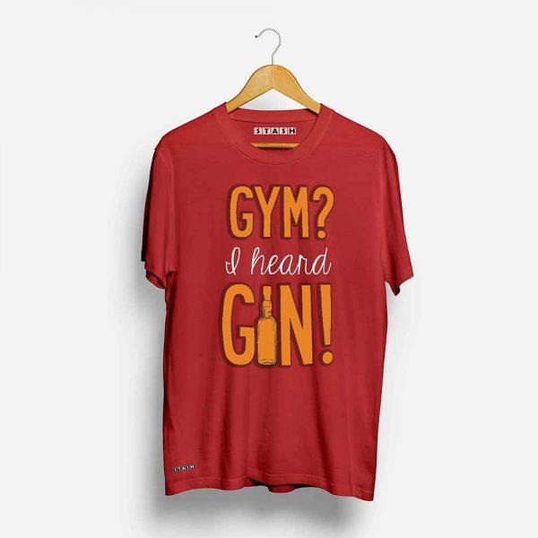 Gym and Gin Unisex Printed Tshirt
