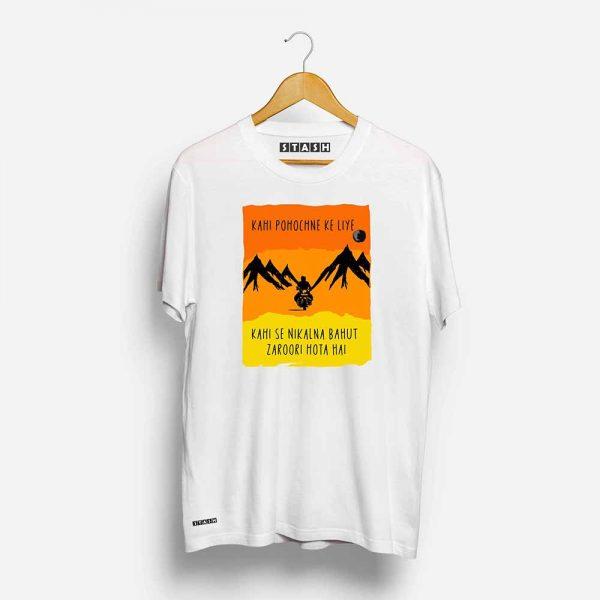 KPKL White Unisex Printed Tshirt