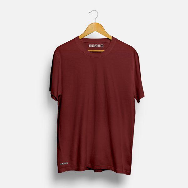 Maroon Unisex Plain Tshirt