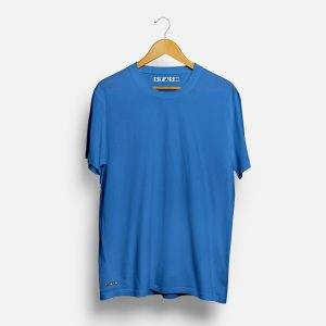 Solid Blue Unisex Plain Tshirt