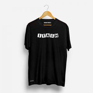 Stash Black Half Sleeve T-Shirt