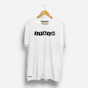 Stash White Half Sleeve T-Shirt