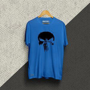 Punisher Blue Half Sleeve Tshirt