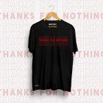Thanks for Nothing Black Unisex Printed Tshirt.jpg