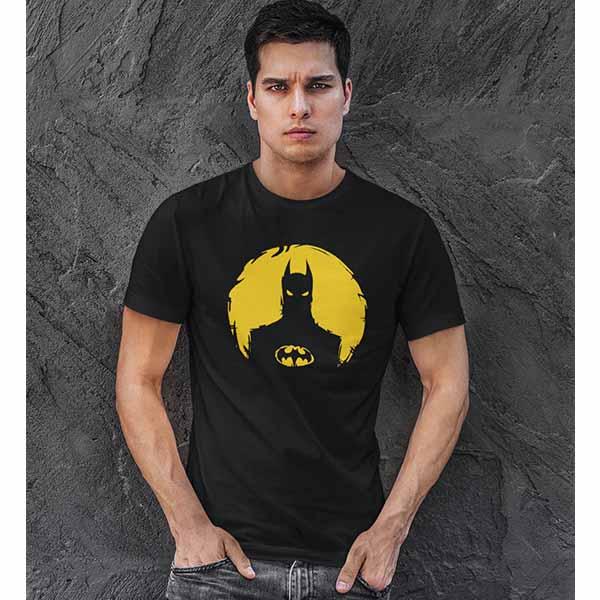 Batman Black Printed Tshirt