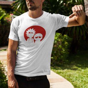 Rick and Morty Printed White T-Shirt