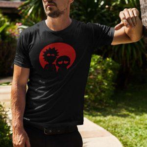 Rick and Morty Printed Black T-Shirt