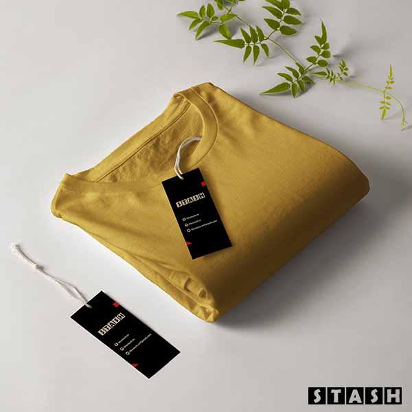 Mustard Unisex Plain Full Sleeves Tshirt