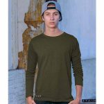 Olive Unisex Plain Full Sleeves Tshirt