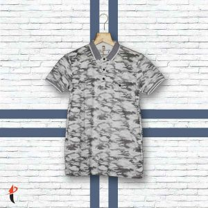 Camouflage Half Sleeves Tee (White)